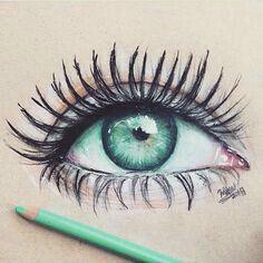 Das ist das schönste gemalte Auge was ich je gesehen habe