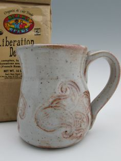Stoneware Mugs with Paisley Imprint