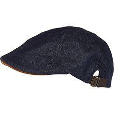 Blue denim flat cap - hats - accessories - men Denim Cap 0a15557cd7851