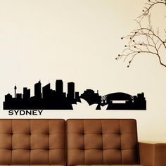 Wall Decals Vinyl Stickers Sydney City Skyline Silhouette Australia Home Decor for Living Room C025 by FabWallDecals on Etsy https://www.etsy.com/listing/222872935/wall-decals-vinyl-stickers-sydney-city