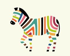 Art-Poster Wall Editions : rainbow colored zebra by Andy WestFace. Illustration for kid and baby. Print Format : 50 x 70 cm. Rainbow Zebra, Baby Art, Zebras, Fabric Painting, Nursery Art, Painting Inspiration, Cute Drawings, Art For Kids, Illustration Art