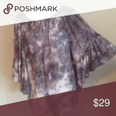 Top Silk gray loose fit top Nolah Elan Tops Blouses