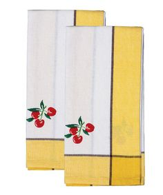This Yellow Cherries Towel - Set of Two is perfect! #zulilyfinds