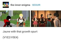 Jaune's gotten a lot taller - Volume 1 vs. Steven Universe, Red Like Roses, Rwby Memes, Japanese Animated Movies, Rwby Ships, Achievement Hunter, Team Rwby, Rooster Teeth, Having A Crush