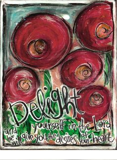 Scripture Art, Trust in the Lord and Delight Yourself in the Lord Set of 2 (Psalm 37.3,Psalm 37.4), 8x10 Fine Art Prints, Set of 2. $32.00, via Etsy.