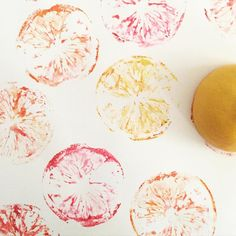 When life gives you lemons...paint them and make citrus prints!