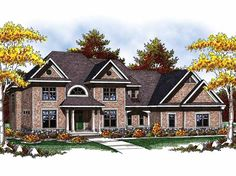 French Country House Plan with 4422 Square Feet and 4 Bedrooms from Dream Home Source | House Plan Code DHSW52274