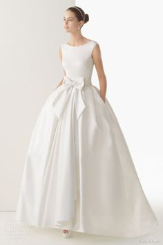 ball gown wedding dress with pockets | Pockets Wedding Dresses 2014:Rosa Clará.