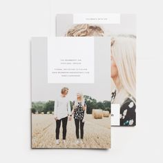 This 5x7 Save the Date Card can be customized on both sides to include your favorite photo and all the details of your wedding day. Printed on thick premium quality 100% recycled paper.