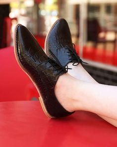 7b85e26626a6 Just a few of these gorgeous Kaya s in Black Croc (embossed leather) left  online