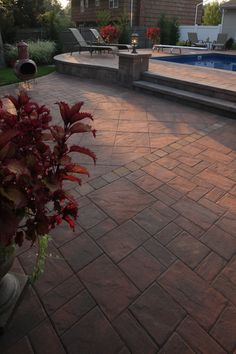 Multi Level Cambridgepavers Patio With Integrated Lighting
