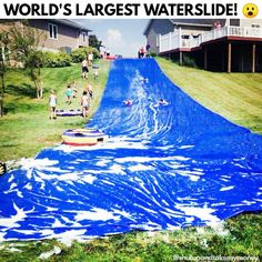 Backyard Blast Giant Water Slide - This jumbo water slide measures a whopping 75' x 12'!