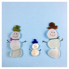 YES! We actually have snow in our forecast! Washington state gets mostly rain in lower elevations so I'm super excited. In the mean time these little sea glass and pebble snowmen will have to be enough. Tag a friend who needs some snowman cuteness in their life. . . . . . . #andiclarkejewelry