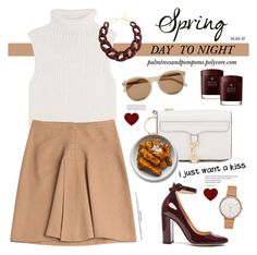 """""""Spring Day to Night"""" by palmtreesandpompoms ❤ liked on Polyvore featuring Theory, Derek Lam, Gianvito Rossi, Yves Saint Laurent, Rebecca Minkoff, Skagen, Molton Brown, DIANA BROUSSARD and daytoevening"""