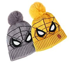 Buy Fashion Sutra Baby Boy's & Baby Girl's Spiderman Soft Winter Pom Pom Beanie Cap (Grey & Yellow 2-7 Years Old) at Amazon.in Warm Winter Hats, Hat And Scarf Sets, Ski Hats, Perfect Christmas Gifts, Grey Yellow, Winter Clothes, Neck Warmer, Keep Warm, Beanie Hats