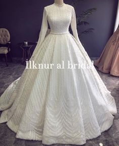 Image may contain: one or more people You can find different rumors about the annals of the marriage dress; Muslimah Wedding Dress, Muslim Wedding Dresses, Princess Wedding Dresses, Dream Wedding Dresses, Bridal Dresses, Wedding Gowns, Wedding Hijab, Dresses Short, Dress Long