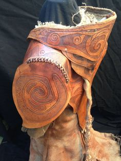 Distressed leather and hessian shamans coat by ~simo024 on deviantART