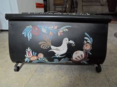 Vintage to Large Metal Scroll Toleware Black Hand Painted Dove Flowers/Gold Reuse/Repurpose Magazine Holder Rack by on Etsy