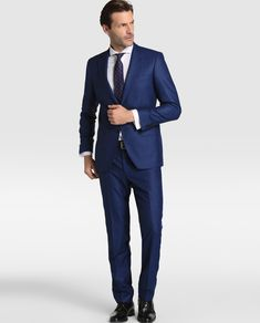 Traje de hombre Mirto regular de pata de gallo azul · Mirto · Moda · El 876137122e0