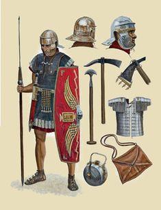 Sean O' Brogain Roman Army Soldier Osprey pub. Arte Assassins Creed, Roman Armor, Ancient Armor, Rome Antique, Roman Warriors, Roman Legion, Empire Romain, Armadura Medieval, Roman Soldiers