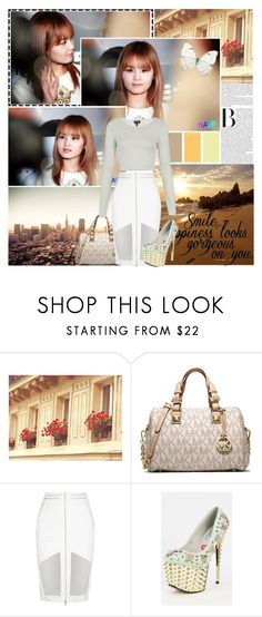 """""""This midnight I can't fall asleep without you"""" by aliicia21 ❤ liked on Polyvore featuring FOOTPRINTS, MICHAEL Michael Kors, Dion Lee, Topshop and Urban Outfitters"""