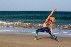 #windsurfgirl arrianne #yoga #windsurf on the beach!!