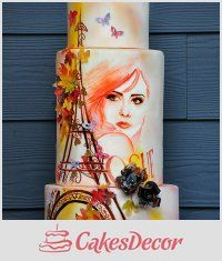 CakesDecor - a place for people who love cake decorating. Gorgeous Cakes, Pretty Cakes, Amazing Cakes, Crazy Cakes, Fancy Cakes, Unique Cakes, Creative Cakes, Bolo Fashionista, Bolo Russo
