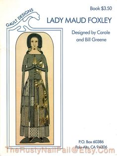 Lady Maud Foxley Blackwork Pattern, by Gault Designs. Designed by Carole & Bill Green Finished size 33 x 14  This is for pattern/chart and