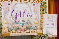 Ysla's Boho Chic Themed Party – Dessert Spread - Dessert Spread Setup Bohemian Party, Bohemian Theme, Birthday Party Themes, Girl Birthday, Birthday Ideas, Debut Ideas, Creative Party Ideas, Party Desserts, Girl Shower
