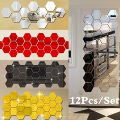 Wish - Nakupovanie je zábava 3d Mirror Wall Stickers, Removable Wall Stickers, Wall Stickers Home, Diy Stickers, Cool Mirrors, Diy Mirror, Living Room Murals, Wall Murals, Diy Home Decor