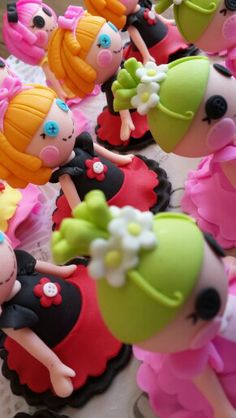 Lallaloopsy cupcake toppers