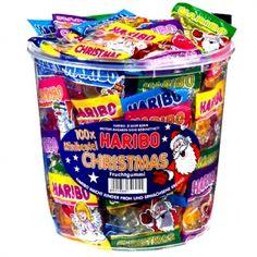 Haribo Minibeutel Christmas Dose 100 Minibeutel mit Fruchtgummi. Ohne künstliche Farbstoffe.