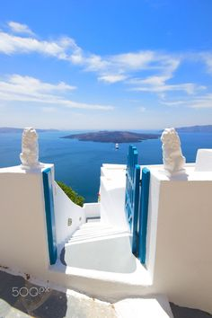 View on Oia in Santorini by Remy Musser on Vacation Destinations, Dream Vacations, Vacation Spots, Santorini Island, Santorini Greece, Oh The Places You'll Go, Places To Travel, Corfu, Crete