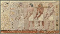 Four Foreign Chieftains, Tomb of Puyemre  Norman de Garis Davies (1865–1941, Egyptian Expedition Graphic Section)  Date: ca. 1473–1458 B.C.  Accession Number: 30.4.13