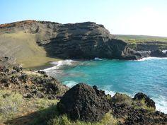 ハワイ島にて〜グリーンサンドビーチ〜