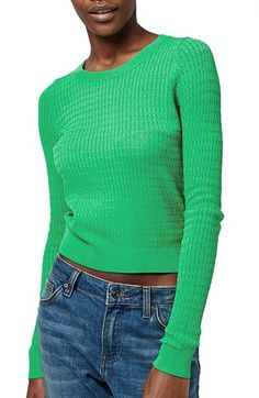 Topshop Mini Cable Sweater