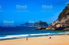 Rio de Janeiro, Brazil - Sao Conrado Beach royalty-free stock photo Free Stock, Beach Pictures, New Image, Celebrity Photos, Vivid Colors, My Photos, America, Water, Outdoor