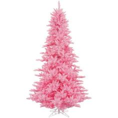 Vickerman 3 Pink Fir Artificial Christmas Tree with 100 Pink LED Lights