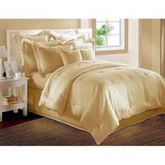 @Overstock - This exquisite comforter set from Isabella Clarke is crafted from mercerized cotton fabric using superior combed single ply yarns. The comforter has a superior polyester fill for excellent quality and comfort.http://www.overstock.com/Bedding-Bath/Isabella-Clarke-300-Thread-Count-Dobby-Stripe-6-piece-Comforter-Set/5178587/product.html?CID=214117 $94.99