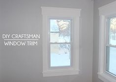 I want to do this to every window in the house! How ot install Craftsman style window trim //tealandlime