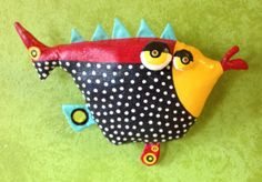 Funky Fish Soft Sculpture by jodieflowers on Etsy, $45.00