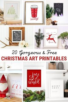20 Free Christmas Printables for Your Home