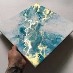 I've been sorting through my pile of unfinished pieces and came across this one again. I really need to add that clear coat of resin . . . #picoftheday #artist #art #fluidartist #fluidart #fluidartgallery #fluidartists #abstract #abstractart #fluidpainting #abstractpainting #painting #artpalooza #ukartists #inspiration #art_aholics #contemporaryart #contemporary #abstraction #instaartist #liquidpainting #acrylic #fluidacrylic #acrylicpainting #fluidartwork #flowart #green #gold #hannahco...