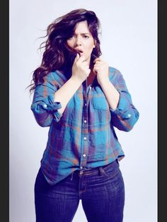 denise bidot - I love a woman in a flannel shirt and jeans.