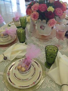 Ladies Tea Centerpieces | ... Centerpiece | Tea Party Table | LSC Ladies Tea Party 2013 | Becky