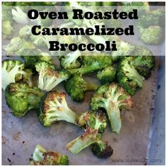 Once you've had it this way you will NEVER go back! Oven Roasted Caramelized Broccoli Recipe  Paleo Approved!  #Delicious #Broccoli #Paleo