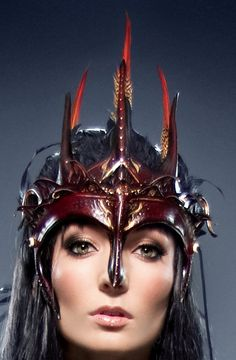 Dark Faery Queen Headdress by RaggedEdgeLeather on Etsy, $325.00