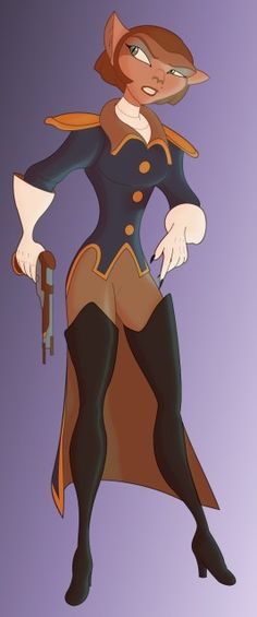 Captain Amelia from Treasure Planet. She inspired me to wear red lipstick and love thigh high boots. :3