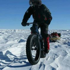 Polar Cycle Expedition...      Juan Menendez Granados and his Fat Bike reached the South Pole!