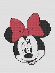 minnie mouse crochet patterns | MINNIE MOUSE CROCHET PATTERN AFGHAN GRAPH #029 | crochetpatternsetc ...